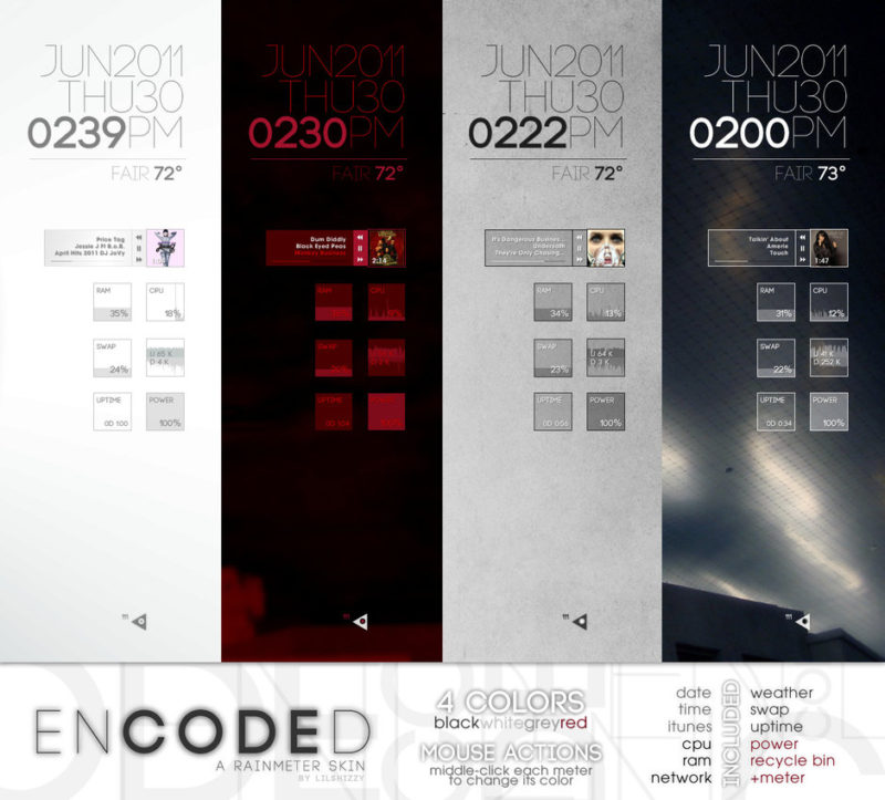 21 Best Rainmeter Skins For Windows, Make Your PC One In a Thousand