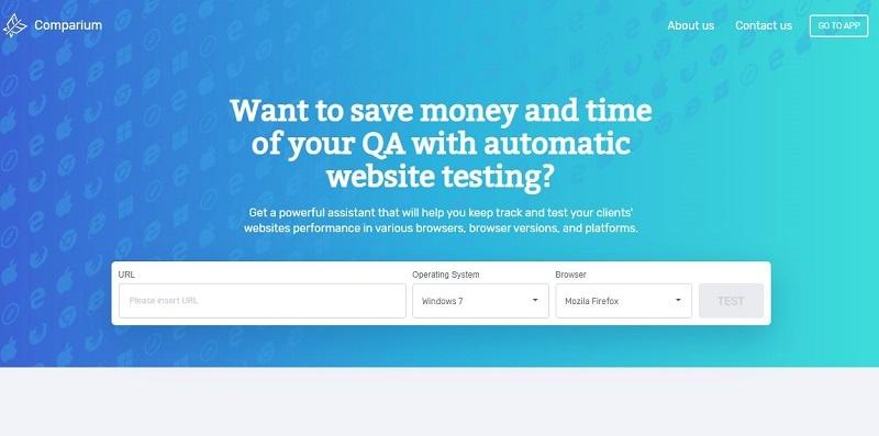 Comparium : Automated Website Testing Tool – iRiverAmerica